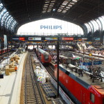 Inside of the Hamburg Central Station.