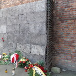 "Memorials at the ""Wall of Death""."