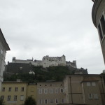 The fortress overlooks Salzburg.
