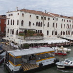 Hotel Bellini - just behind the water-taxi stand.