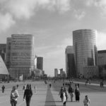 On the streets of the futuristic feeling La Defense.