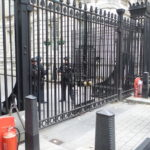 Outside 10 Downing Street.