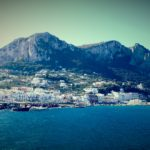 Sailing into Capri.