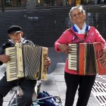 The dueling accordion couple. They take all requests!