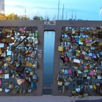 Lots of love locks.