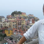 Overlooking the village of Manarola after a shirt soaking hike.