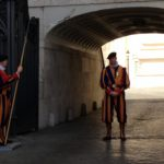 Pontifical Swiss Guards.
