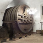The big wine barrel.