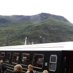 The old Flam Railroad train.