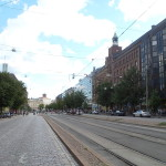 A typical Helsinki street.