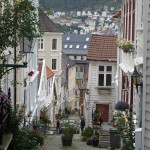 The winding streets of Bergen.